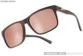 EMPORIO ARMANI 太陽眼鏡 EA4071F 55094Z (咖啡) 時尚率性百搭水銀鏡面款 # 金橘眼鏡