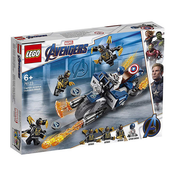 LEGO 樂高 Marvel 復仇者聯盟 76123 Captain America: Outriders Attack 【鯊玩具Toy Shark】