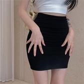 A字裙 一步裙半身裙女夏季高腰緊身性感辣妹包臀短裙2021年新款黑色裙子 夢藝家
