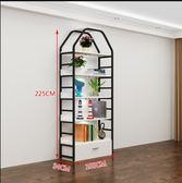 化妝品展示櫃 産品展示架六層帶抽 (長100深34高225CM) 含燈具。 白色黑架共4個