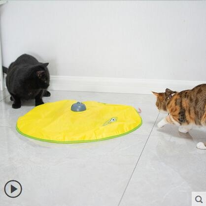 貓玩具電動貓轉盤自動逗貓棒逗貓陪伴小貓咪電動自嗨玩具貓咪用品 時尚芭莎