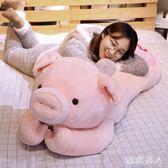 可愛毛絨玩具布娃娃暖手抱枕豬豬大公仔抱著陪你睡覺懶人床上TA6457【極致男人】