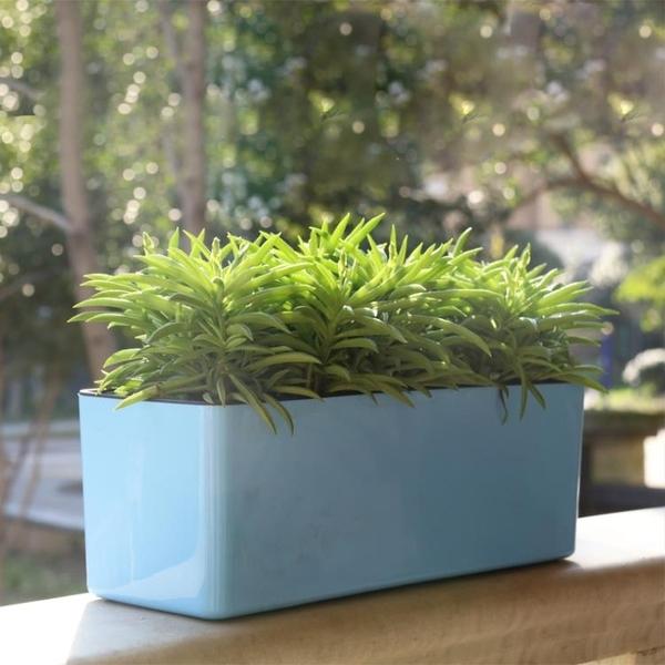 長方形懶人花盆自動吸水塑料加厚簡約長條花盆