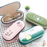 簡約小清新帆布眼鏡盒男女學生韓國復古優雅眼鏡收納盒