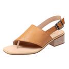 【Taroko】輕便有型素面搭扣套腳夾腳方頭涼鞋(3色可選)