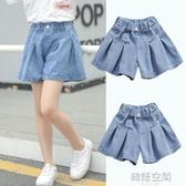 女童牛仔褲裙2020新款夏裝女孩短褲兒童夏季裙褲外穿百搭薄款洋氣 韓語空間