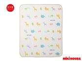 MIKI HOUSE 可愛滿版動物多用途毛毯(白)