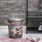 【網購特惠】*美式風格鐵桶收納椅-搖滾巴哥-生活工場