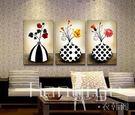 壁畫 歐式花瓶家居飾品壁畫背景墻畫抽象掛...