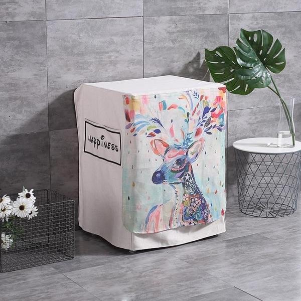 滾筒洗衣機罩防水防曬西門子小天鵝美的LG三星松下全自動罩套 熊熊物語