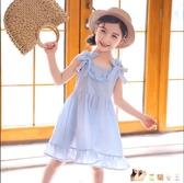 女童夏裝洋裝2020新款兒童裝網紅棉質裙子夏季洋氣小女孩公主裙 HX5585【花貓女王】