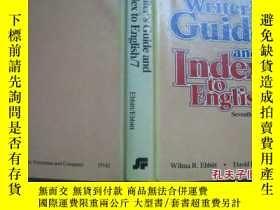 二手書博民逛書店writer's罕見guide and index to Eng