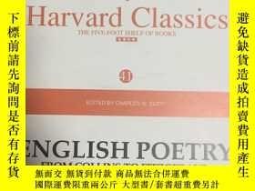 二手書博民逛書店哈弗經典41英文詩罕見English poetry from C