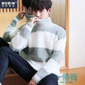 針織衫男高領套頭韓版修身男裝