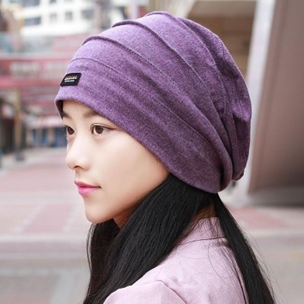 【南紡購物中心】帽子女春夏超薄冰感頭巾帽空調光頭月子化療帽子包頭帽街舞帽潮
