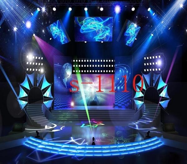 網絡直播背景布3d主播背景墻超炫燈光舞台主播背景布DJ打碟立體