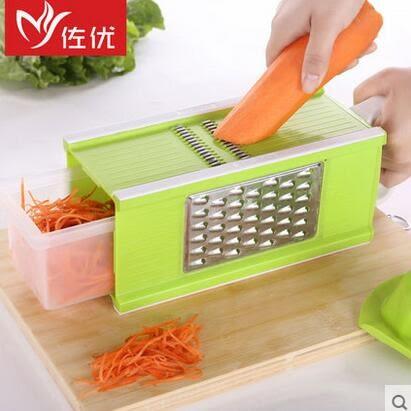多功能切菜器神器土豆絲切絲器護手擦絲器擦菜切片器刨絲器插菜板