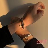 情侶手鍊 喜字海誓山盟情侶手鍊編織繩設計感小眾復古時尚手串一對潮