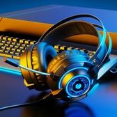 英菲克G2耳機頭戴式電腦耳機臺式電競游戲耳麥網吧帶麥聽聲辯位 雙十一全館免運
