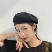 貝雷帽女日系薄款透氣復古文藝畫家帽百搭八角帽【雲木雜貨】