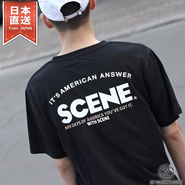 短袖T桖 圓領 SCENE口袋刺繡 背後印字T恤 5色