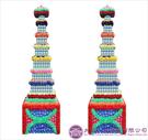 【大堂人本】JY36- 木柱方形七層全飲品罐頭塔(450瓶)