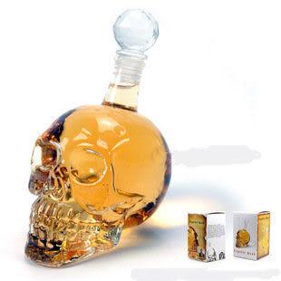 萬聖節 水晶骷髏頭骨醒酒器