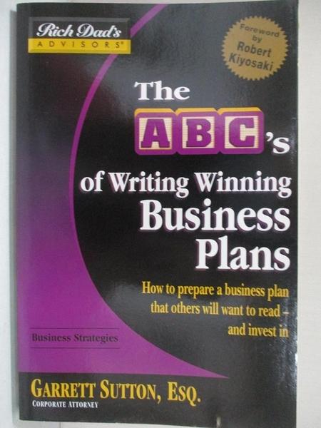 【書寶二手書T1/原文書_JGM】The Abc's Of Writing Winning Business Plans: How To…