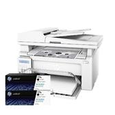 【搭CF217A原廠碳粉匣二支】HP LaserJet Pro M130fn 黑白雷射傳真複合 登錄送禮卷