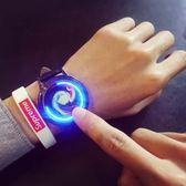 韓國創意夜光時尚簡約潮男錶女錶正韓 帶個性學生潮流電子手錶【618好康又一發】
