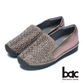 ★新品上市★【bac】樂活時尚-水鑽裝飾真皮休閒鞋(深灰色)