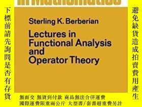 二手書博民逛書店Lectures罕見In Functional Analysis And Operator Theory (gra