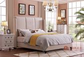 [紅蘋果傢俱] SA102 新美式鄉村風 歐式床 沙發床 床組 六尺床 床架 床台 雙人床 休閒椅 床頭櫃