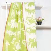 瑞典Klippan有機羊毛毯--原野躲貓貓(綠)