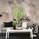 大型壁貼【WD-073 野生動物園】創意壁貼 空間設計 無毒無痕 造型壁貼 英國設計 現貨供應