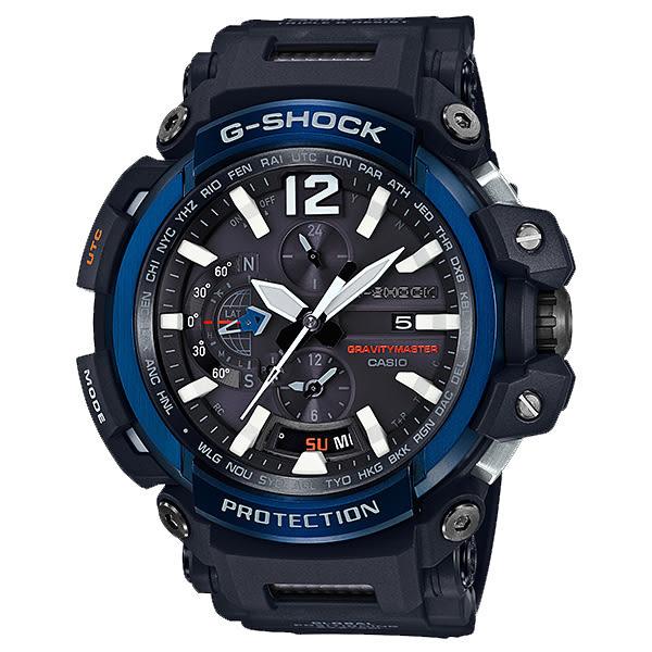 【僾瑪精品】CASIO 卡西歐 G-SHOCK 電波藍芽飛行錶-黑x藍/GPW-2000-1A2