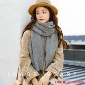 映畫image軟妹圍巾韓版女百搭秋冬季厚款窄版甜美可愛日系小圍巾
