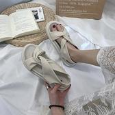 夏天羅馬涼鞋女仙女風年新款夏季平底ins潮厚底舒適學生百搭 伊衫風尚