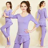 瑜伽服套裝女 韓版瑜珈服 健身運動舞蹈愈加服女三件套大尺碼春夏