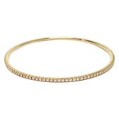 Tiffany & Co 蒂芬妮 K18黃金鑲鑽細款手環 Tiffany Metro Bangle 二手品牌 BRAND OFF