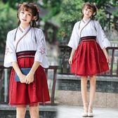 改良漢服女中國風cos服漢元素日常古風裙子學生夏季寬鬆古裝套裝 時尚潮流