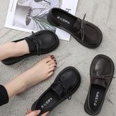 娃娃鞋 英倫風女鞋休閒百搭平底單鞋小皮鞋女春季新款韓版女潮 - 雙十二交換禮物