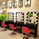 工作室影樓化妝臺帶專用專業店鋪用美容院學校彩妝婚紗店梳妝臺