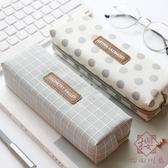 簡約筆袋韓版小清新文具袋女大容量鉛筆袋【櫻田川島】
