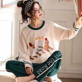 店長嚴選睡衣女春秋季長袖純棉套裝秋冬休閒韓版甜美可愛夏季可外穿家居服