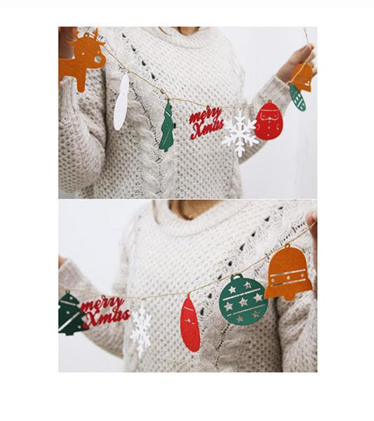 【韓風童品】聖誕老人雪花片掛飾 與 MERRY CHRISTMAS 聖誕樹掛件 新年裝飾 節慶佈置 聖誕掛飾