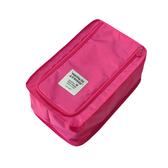 出遊好幫手旅遊用品首選防水鞋盒鞋子收納袋-粉紅色