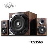 T.C.STAR TCS3560 木質紋多功能插卡/USB/藍牙2.1多媒體喇叭