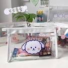 少女鉛筆袋日系透明防水可愛學生大容量化妝品收納包【聚寶屋】