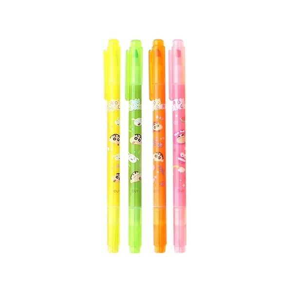 蠟筆小新 雙頭螢光筆(1支入) 款式可選【小三美日】